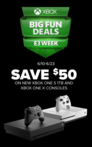 $50 Off New Xbox One S 1TB & Xbox One X Consoles – Bay City